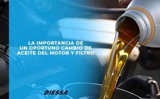 La importancia de un cambio oportuno de aceite del motor y filtro