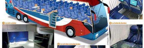 El autobús del PSG, confort y lujo con todo tipo de detalles