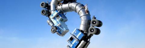 """""""Big Rig Jig"""", la colosal escultura de camiones cisterna"""