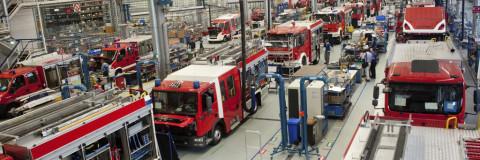 La mayor fábrica de camiones de bomberos del mundo