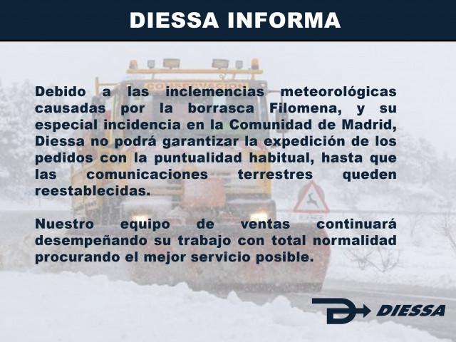 Diessa Informa. Afección Borrasca Filomena