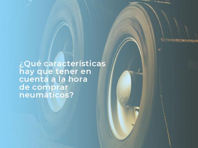 ¿Qué características hay que tener en cuenta a la hora de comprar neumáticos para nuestro camión?