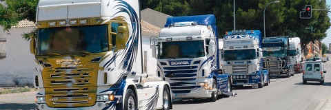 Desfile de camiones en Santa Eugenia (Mallorca)