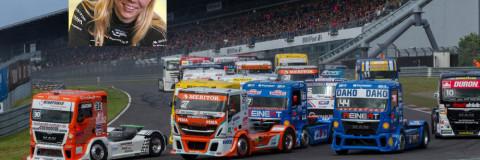 Steffi Halm, la primera mujer de la historia en ganar carreras de camiones