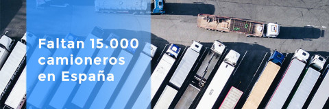Faltan 15.000 camioneros en España